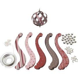 VIVA DEKOR (MY PAPERWORLD) Set de manualidades, para 12 bolas navideñas