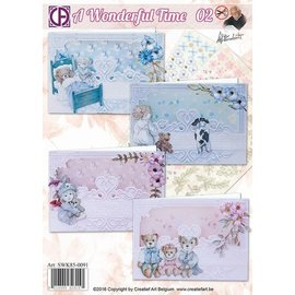 Reddy Craft set, for 4 beautiful, baptism card, baby card!