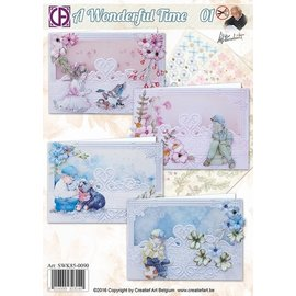 Handicraft set, for 4 wonderful cards for various occasions!