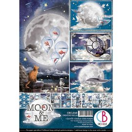 Mintay und Ciao Bella Brandneu! A4 Papierblock, Moon & Me