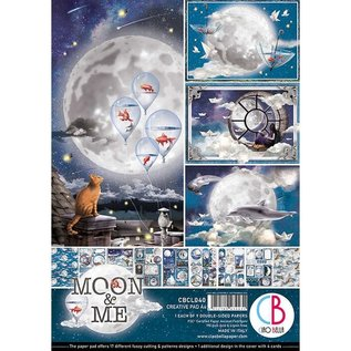 Mintay und Ciao Bella Brand new! A4 paper block, Moon & Me