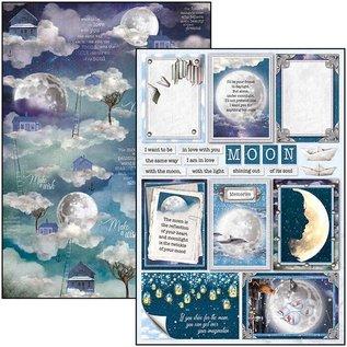 Mintay und Ciao Bella Gloednieuw! A4 papierblok, Moon & Me