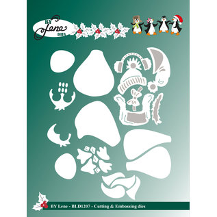 Leane Creatief - Lea'bilities und By Lene Cutting stencil  , Penguins