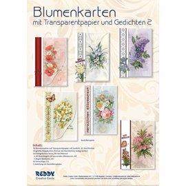 BRANDNEU! Bastelset für 10 Blumenkarten mit Transparentpapier & Gedichten