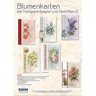 TOUT NEUF! Craft pour 10 cartes de fleurs avec papier calque et poèmes