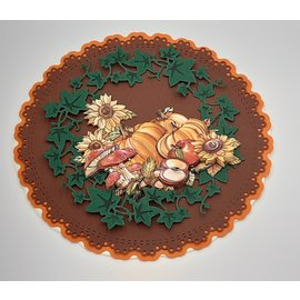 Joy!Crafts / Jeanine´s Art, Hobby Solutions Dies /  Taglio e goffratura Template: Corona dell'edera