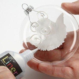 Objekten zum Dekorieren / objects for decorating SET kerstballen, D: 8 cm, 2 stuks, Dikte: 2,1 cm