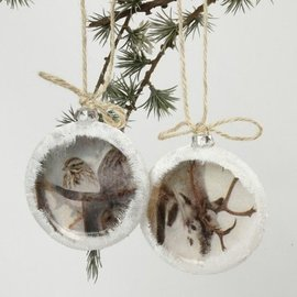 Objekten zum Dekorieren / objects for decorating SET Weihnachtskugel, D: 8 cm, 2 Stück., Stärke: 2,1 cm