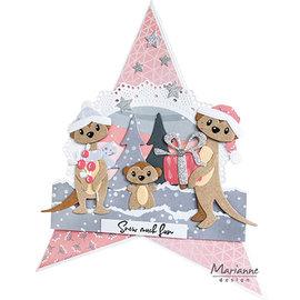 Marianne Design Stencil di taglio , Eline's Meercats, COL1490