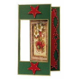 Stansvel + achtergrondvel, A4, kerst