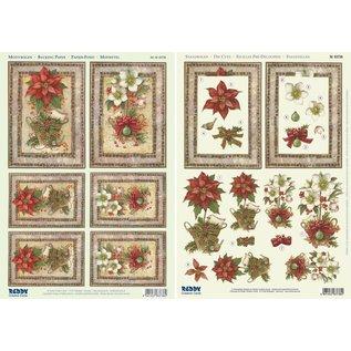 Reddy Die cut sheet + background sheet, A4, Christmas