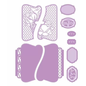 Tonic Studio´s Plantillas de corte, Memory book our story half cut