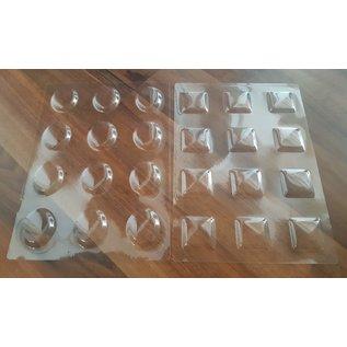 Bellen, transparante vensters, om uit te kiezen: ovaal of vierkant, 12 vensters