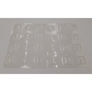 Bubbles, transparent windows, to choose from: oval or square, 12 windows