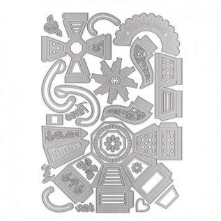 Tonic Studio´s Cutting dies , Dimensions, 3D time for tea, 3354E