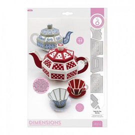 Tonic Studio´s Stencil di taglio, Dimensions, 3D time for tea, 3354E