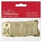 Docrafts / Papermania / Urban Papermania, houten labels, met nummer, 1 t / m 24, adventskalender, kerst,
