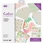 Crafter's Companion Papierblok voor kaarten en scrapbooking, 48 vellen, 30,5 x 30,5 cm, 180 g / m2!