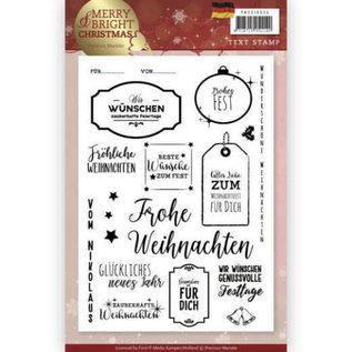 Precious Marieke Timbro trasparente, testo in tedesco, Natale