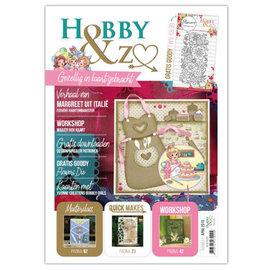 Bücher, Zeitschriften und CD / Magazines Zeitschrift, A4,  HobbyZine + Gratis  Stanzschablone Blumen