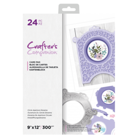 Crafter's Companion Fancy Panel Aperture Diorama, A4, paper block with 24 punched sheets!