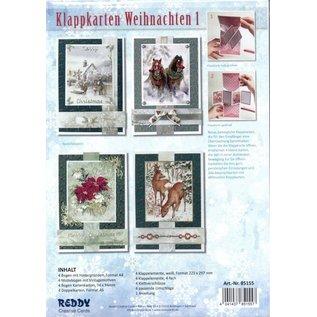 Bastelpackung, Kartenset: Weihnachtskarten Klappkarten