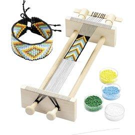 BASTELSETS / CRAFT KITS Métier à tisser, pour tisser des rubans de perles 34 x 11,5 x 6 cm