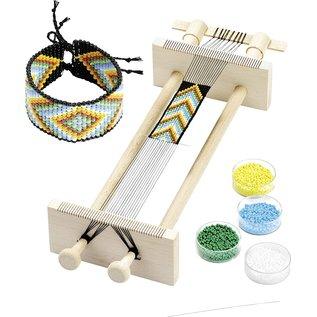 BASTELSETS / CRAFT KITS NEU Bei uns! Webrahmen, zum Weben von Perlenbänder 34 x 11,5 x 6 cm