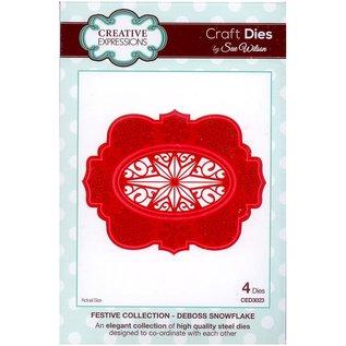 Cutting dies, Sue Wilson Festive Collection, deboss snowflake , Metall, 8,7 x 10,9 cm