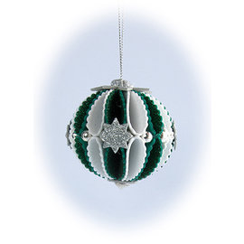 Leane Creatief - Lea'bilities und By Lene Cutting stencils, 3D decoration Christmas balls