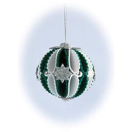 Leane Creatief - Lea'bilities und By Lene Snijsjablonen, 3D-decoratie kerstballen