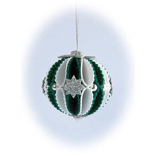 Leane Creatief - Lea'bilities und By Lene Stanzschablonen, 3D Dekoration Weihnachtskugel