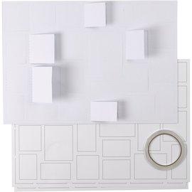 BASTELSETS / CRAFT KITS Calendario de Adviento, con 24 ventanas, en blanco, para decorar!
