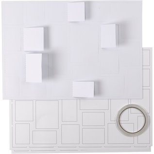 BASTELSETS / CRAFT KITS Adventskalender, met 24 vensters, blanco, om te versieren!