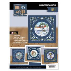 BASTELSETS / CRAFT KITS Kit artigianale completo! Set hobbydots unico, per 4 carte!