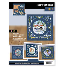 BASTELSETS / CRAFT KITS Kit de manualidades completo! Juego de hobbydots único, ¡para 4 cartas!