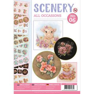 Bücher, Zeitschriften und CD / Magazines A4-bog med 48 motiver, pre-cut, forskellige lejligheder