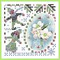 BASTELSETS / CRAFT KITS Sparkles Set 45, de kleuren van de winter, roze winterbloemen