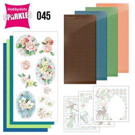 BASTELSETS / CRAFT KITS Sparkles Set 45, Les couleurs de l'hiver, fleurs d'hiver roses