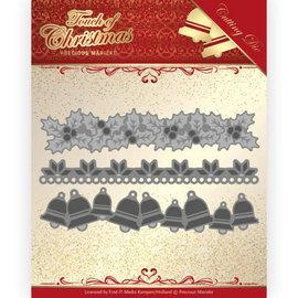 Precious Marieke Plantillas de corte, 3 bordes navideños