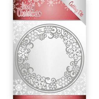 Joy!Crafts / Jeanine´s Art, Hobby Solutions Dies /  Snijmallen, cirkels met ijskristallen, afmeting: ca. 13 x 13 cm.
