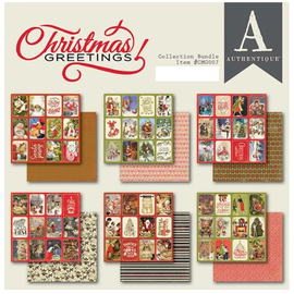 Christmas Greetings, Designer Block, Authentique