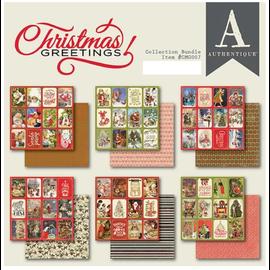 Christmas Greetings, Designerblock, Authentique