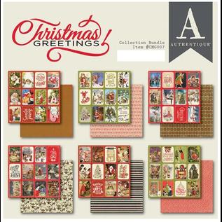 Christmas Greetings, Designer Block, Authentique