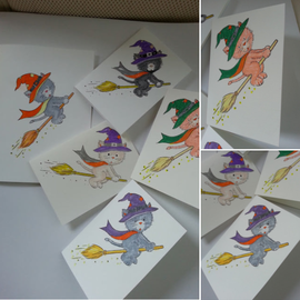 Wild Rose Studio`s Sello transparente, A7: gato de Halloween - ¡ÚLTIMO DISPONIBLE!