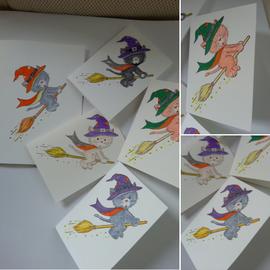 Wild Rose Studio`s Timbro trasparente, A7: gatto di Halloween - ULTIMO DISPONIBILE!