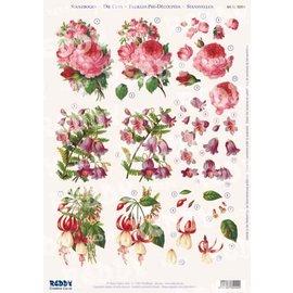"""Bilder, 3D Bilder und ausgestanzte Teile usw... 3D utstanset ark, Galleri """"Roses / Fuchsias"""""""