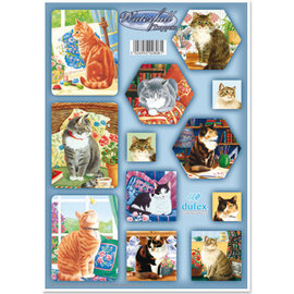 BASTELSETS / CRAFT KITS Dufex die cut sheet set waterfall cards, cats