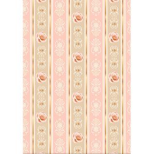 Vintage, Nostalgia und Shabby Shic Set carta di design, Rose vintage, A4, 34 fogli!