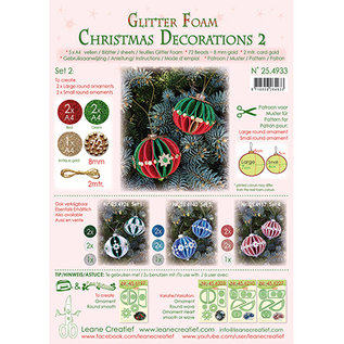 Leane Creatief - Lea'bilities und By Lene Christmas ball, glitter foam decoration, choice from set 1, 2, 3 or 4